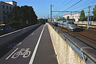 Bike path along TGV line
